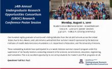 24th Annual Undergraduate Research Opportunities Consortium (UROC) Research Conference Poster Session